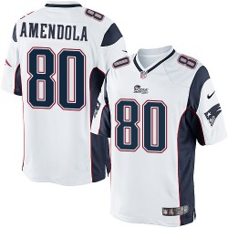 New England Patriots Danny Amendola Official Nike White Limited Adult Road NFL Jersey