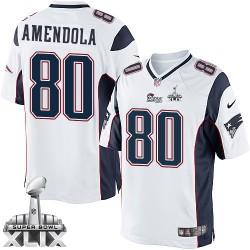 New England Patriots Danny Amendola Official Nike White Limited Adult Road Super Bowl XLIX NFL Jersey