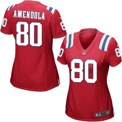 New England Patriots Danny Amendola Official Nike Red Game Women's Alternate NFL Jersey