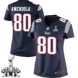 New England Patriots Danny Amendola Official Nike Navy Blue Elite Women's Home Super Bowl XLIX NFL Jersey