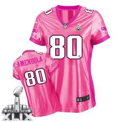 New England Patriots Danny Amendola Official Nike Pink Elite Women's New Be Luv'd Super Bowl XLIX NFL Jersey