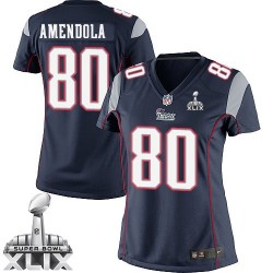 New England Patriots Danny Amendola Official Nike Navy Blue Limited Women's Home Super Bowl XLIX NFL Jersey