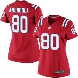 New England Patriots Danny Amendola Official Nike Red Elite Women's Alternate NFL Jersey