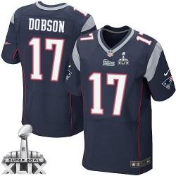 New England Patriots Aaron Dobson Official Nike Navy Blue Elite Adult Home Super Bowl XLIX NFL Jersey