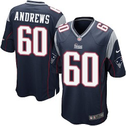 New England Patriots David Andrews Official Nike Navy Blue Game Adult Home NFL Jersey