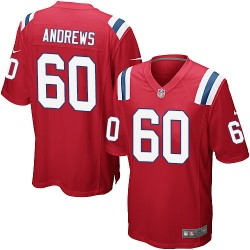 New England Patriots David Andrews Official Nike Red Game Adult Alternate NFL Jersey