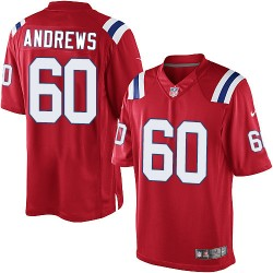 New England Patriots David Andrews Official Nike Red Elite Youth Alternate NFL Jersey