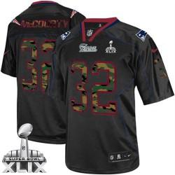 New England Patriots Devin McCourty Official Nike Black Elite Adult Camo Fashion Super Bowl XLIX NFL Jersey