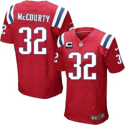 New England Patriots Devin McCourty Official Nike Red Elite Adult Alternate C Patch NFL Jersey