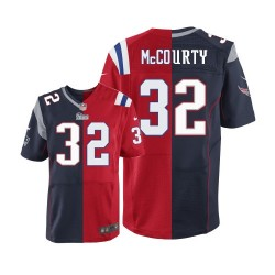 New England Patriots Devin McCourty Official Nike Two Tone Elite Adult Team/Alternate NFL Jersey