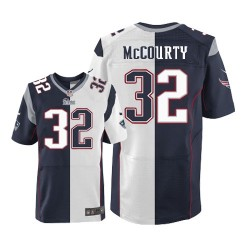 New England Patriots Devin McCourty Official Nike Two Tone Elite Adult Team/Road NFL Jersey