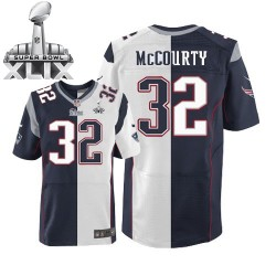 New England Patriots Devin McCourty Official Nike Two Tone Elite Adult Team/Road Super Bowl XLIX NFL Jersey