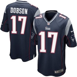 New England Patriots Aaron Dobson Official Nike Navy Blue Game Adult Home NFL Jersey