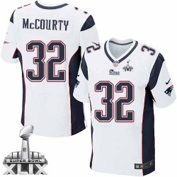 New England Patriots Devin McCourty Official Nike White Elite Adult Road Super Bowl XLIX NFL Jersey