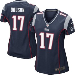 New England Patriots Aaron Dobson Official Nike Navy Blue Game Women's Home NFL Jersey