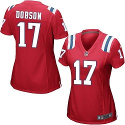 New England Patriots Aaron Dobson Official Nike Red Game Women's Alternate NFL Jersey