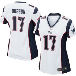 New England Patriots Aaron Dobson Official Nike White Game Women's Road NFL Jersey