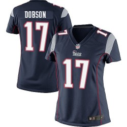 New England Patriots Aaron Dobson Official Nike Navy Blue Elite Women's Home NFL Jersey