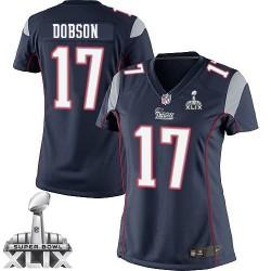 New England Patriots Aaron Dobson Official Nike Navy Blue Elite Women's Home Super Bowl XLIX NFL Jersey