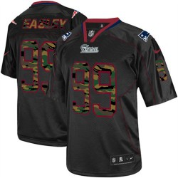 New England Patriots Dominique Easley Official Nike Black Elite Adult Camo Fashion NFL Jersey