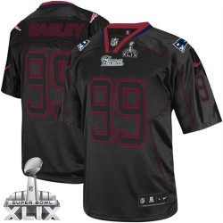 New England Patriots Dominique Easley Official Nike Lights Out Black Elite Adult Super Bowl XLIX NFL Jersey