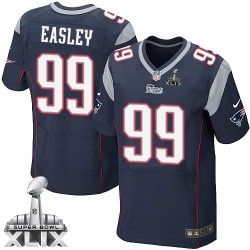 New England Patriots Dominique Easley Official Nike Navy Blue Elite Adult Home Super Bowl XLIX NFL Jersey