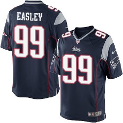 New England Patriots Dominique Easley Official Nike Navy Blue Limited Adult Home NFL Jersey