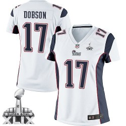 New England Patriots Aaron Dobson Official Nike White Elite Women's Road Super Bowl XLIX NFL Jersey
