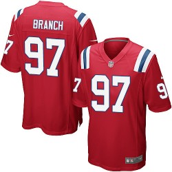 New England Patriots Alan Branch Official Nike Red Game Adult Alternate NFL Jersey
