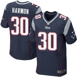 New England Patriots Duron Harmon Official Nike Navy Blue Elite Adult Home NFL Jersey