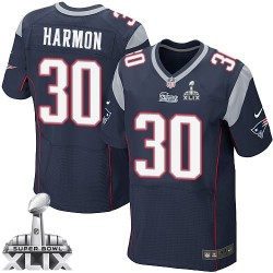 New England Patriots Duron Harmon Official Nike Navy Blue Elite Adult Home Super Bowl XLIX NFL Jersey