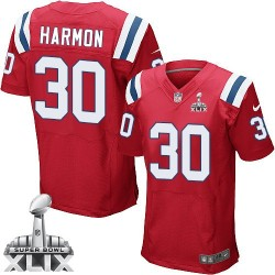 New England Patriots Duron Harmon Official Nike Red Elite Adult Alternate Super Bowl XLIX NFL Jersey