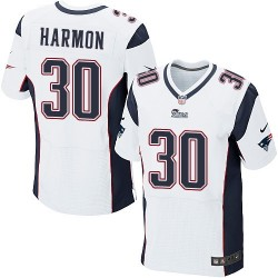 New England Patriots Duron Harmon Official Nike White Elite Adult Road NFL Jersey