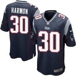 New England Patriots Duron Harmon Official Nike Navy Blue Game Adult Home NFL Jersey
