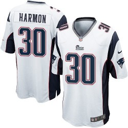 New England Patriots Duron Harmon Official Nike White Game Adult Road NFL Jersey