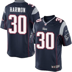 New England Patriots Duron Harmon Official Nike Navy Blue Limited Adult Home NFL Jersey