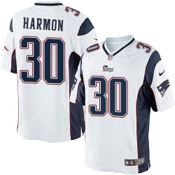 New England Patriots Duron Harmon Official Nike White Limited Adult Road NFL Jersey