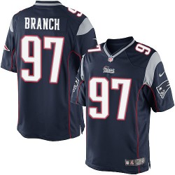 New England Patriots Alan Branch Official Nike Navy Blue Limited Adult Home NFL Jersey