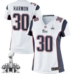 New England Patriots Duron Harmon Official Nike White Elite Women's Road Super Bowl XLIX NFL Jersey