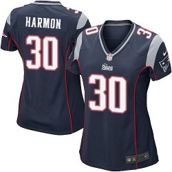 New England Patriots Duron Harmon Official Nike Navy Blue Game Women's Home NFL Jersey