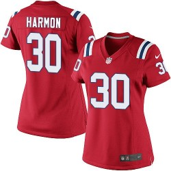 New England Patriots Duron Harmon Official Nike Red Limited Women's Alternate NFL Jersey