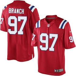 New England Patriots Alan Branch Official Nike Red Limited Adult Alternate NFL Jersey