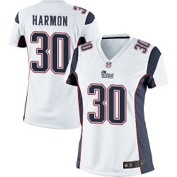 New England Patriots Duron Harmon Official Nike White Limited Women's Road NFL Jersey