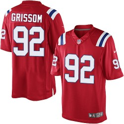 New England Patriots Geneo Grissom Official Nike Red Limited Adult Alternate NFL Jersey