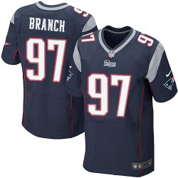 New England Patriots Alan Branch Official Nike Navy Blue Elite Adult Home NFL Jersey