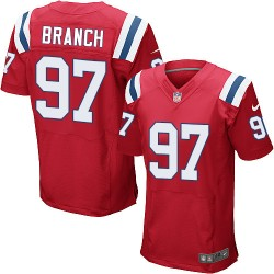 New England Patriots Alan Branch Official Nike Red Elite Adult Alternate NFL Jersey