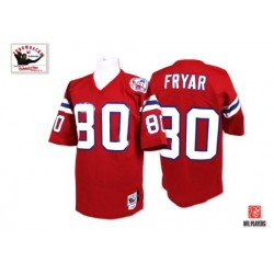new england patriots irving fryar official mitchell and ness red authentic adult alternate throwback nfl jersey