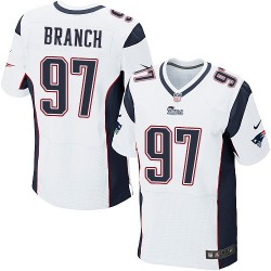New England Patriots Alan Branch Official Nike White Elite Adult Road NFL Jersey