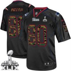 New England Patriots Irving Fryar Official Nike Black Elite Adult Camo Fashion Super Bowl XLIX NFL Jersey