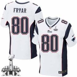New England Patriots Irving Fryar Official Nike White Elite Adult Road Super Bowl XLIX NFL Jersey